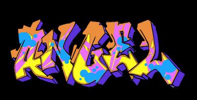 estos son los dibujos con los que van acompañados los graffitis.