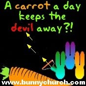 church cosmic bunny religion devil