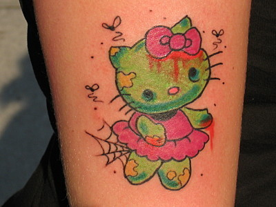 zombie girl tattoo. Second tattoo, very fresh It