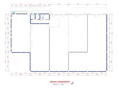 gambar contoh gambar desain kantor aula 2 lantai denah