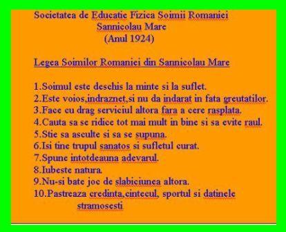 Legea Soimilor Romaniei - Sannicolau Mare