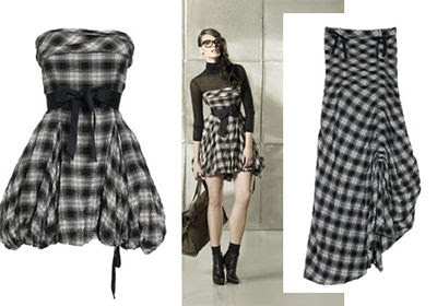 Holiday Dresses - Christmas Checkered Dress