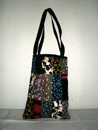 väska i lappteknik
