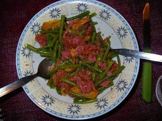 bollito peperoni fagiolini