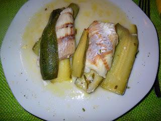 Filetti di scorfano alle zucchine