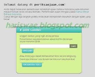 Memeriksa Penggunaan Ejaan Bahasa Indonesia