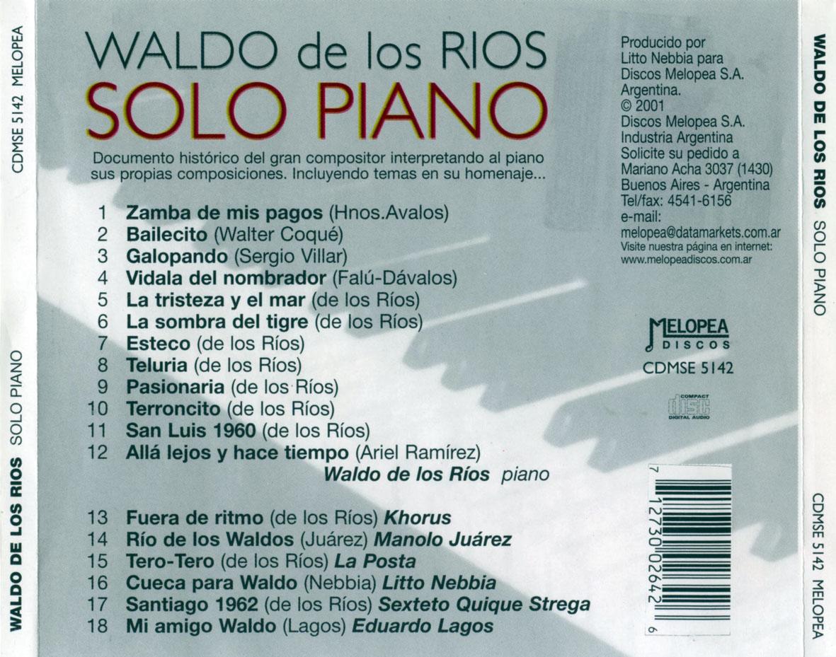 Waldo De Los Rios La Residencia - Everybody's Talkin'