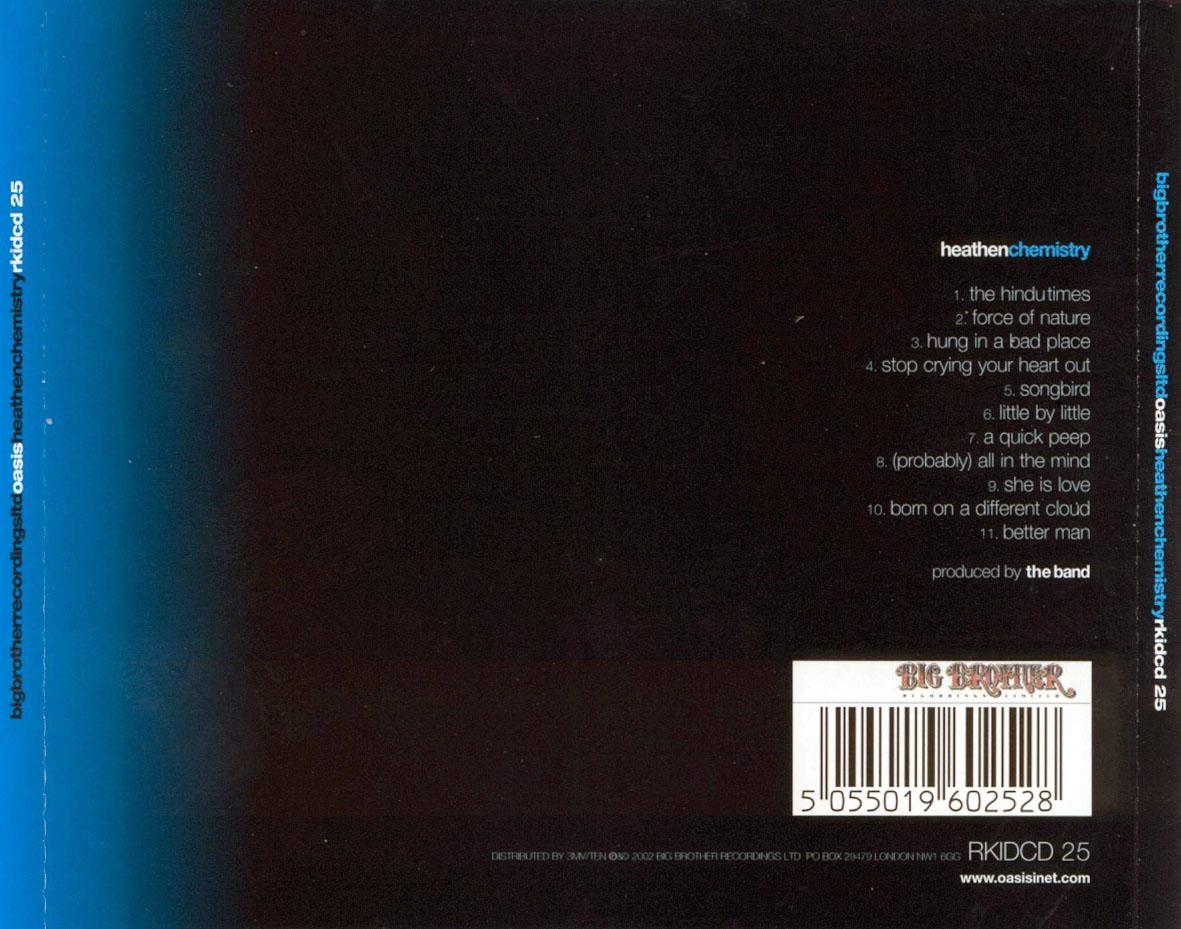 CARATULAS DE CD DE MUSICA: Oasis Heathen Chemistry (2002) Oasis Heathen Chemistry