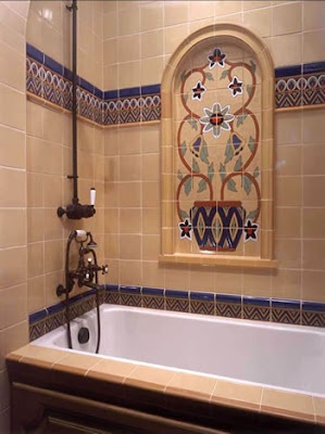 Bathroom ceramic tile cool