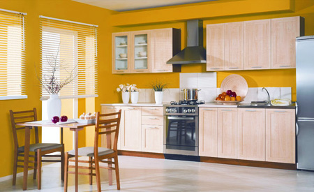 Western Home Decorating Fitted Kitchens For Small Spaces