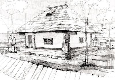 Desene arhitectura casa de la muzeul satului for Casa moderna in moldova