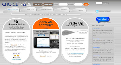 ChoiceTrade review 2010 : Choicetrade promotion code & Account Features