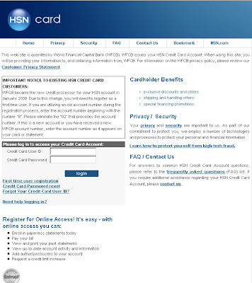 Login to HSN Credit Card Account using Onlineaccess.mycreditcard.cc/hsn