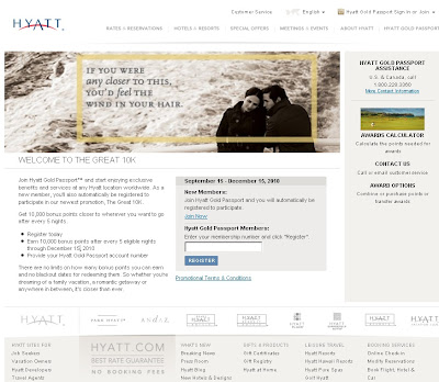 Hyatt Gold Passport Great 10k Promotion