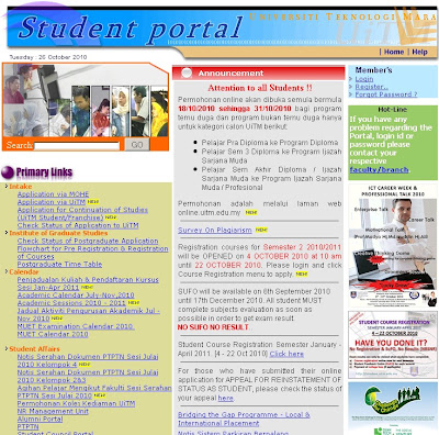 Uitm online portal : Login Guide for Uitm Student