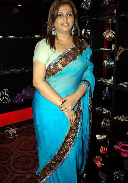 sona heiden in blue saree sona collection photo gallery