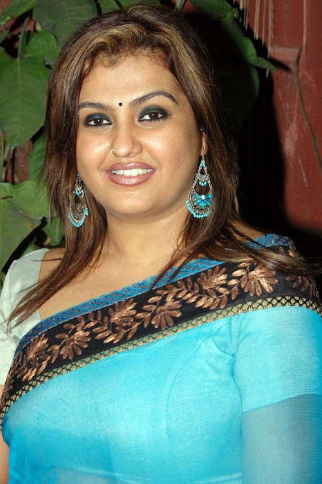 sona heiden in blue saree sona collection glamour  images
