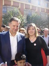 Con Marcelino Iglesias, en Zaragoza
