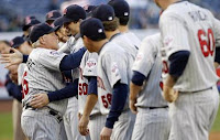 We could have seen more of these MN Twins hug fests if we had beat the Yankees