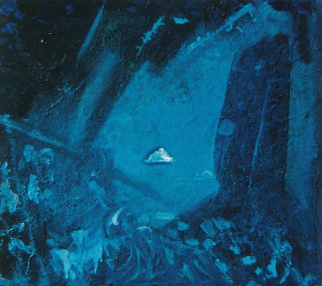 Vieille peinture bleu