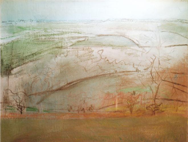 Colline croquuis de la toile dans le paysage...