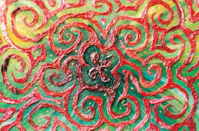 Effet de matière (contraste vert, rouge)