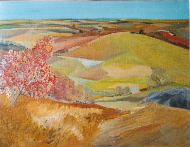 Suite de colline d'une série esquissée au pastel puis repris a l'atelier....
