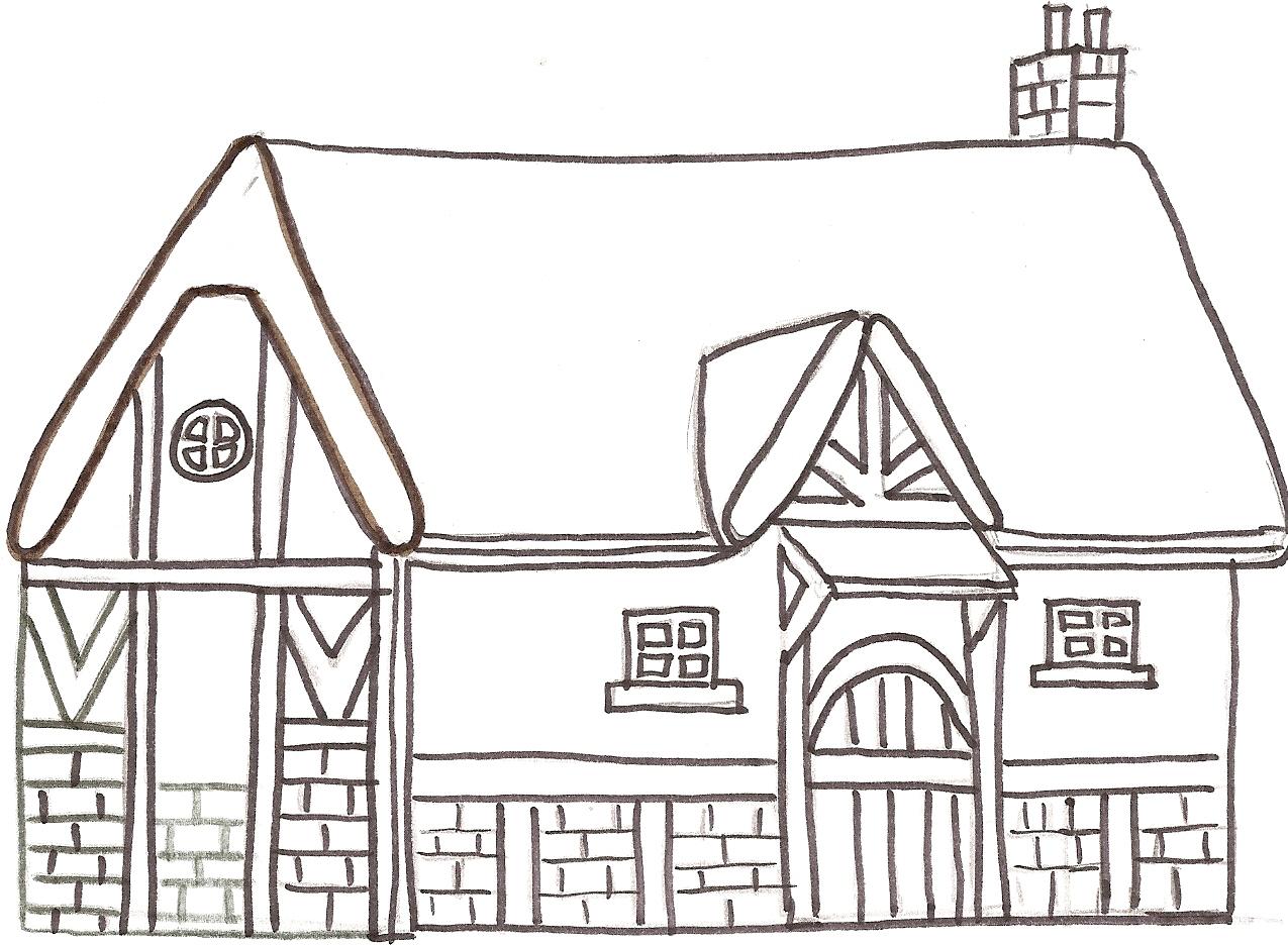 Dibujos Para Colorear De Casas De Ladrillo ~ Ideas Creativas Sobre ...