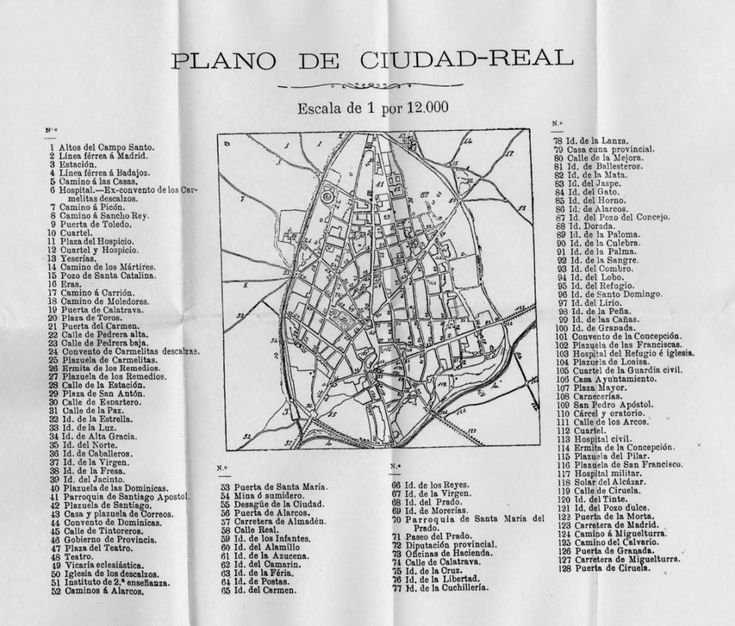 Blog de geograf a del profesor juan mart n mart n plano - Plano de ciudad real ...
