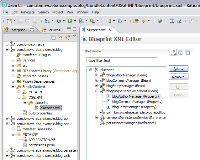 Websphere community blog rad tooling for osgi applications osgi application components wh ich malvernweather Gallery