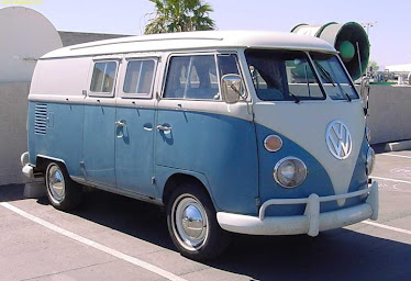 Kombi Blue & White