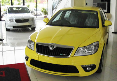 Skoda Superb and Skoda Octavia VRS at Showroom Photos