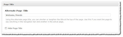 Alternate Page Title using Headway for WordPress