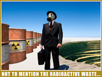 Open pit uranium mine and radioactive waste