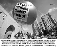 Phillipines protest: Stop Funding Climate Change!