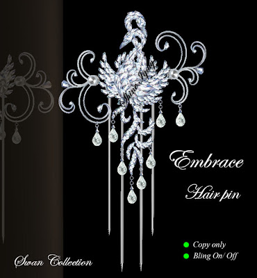 hair pin 233 prims access rights copy only bling on off embrace hair ...