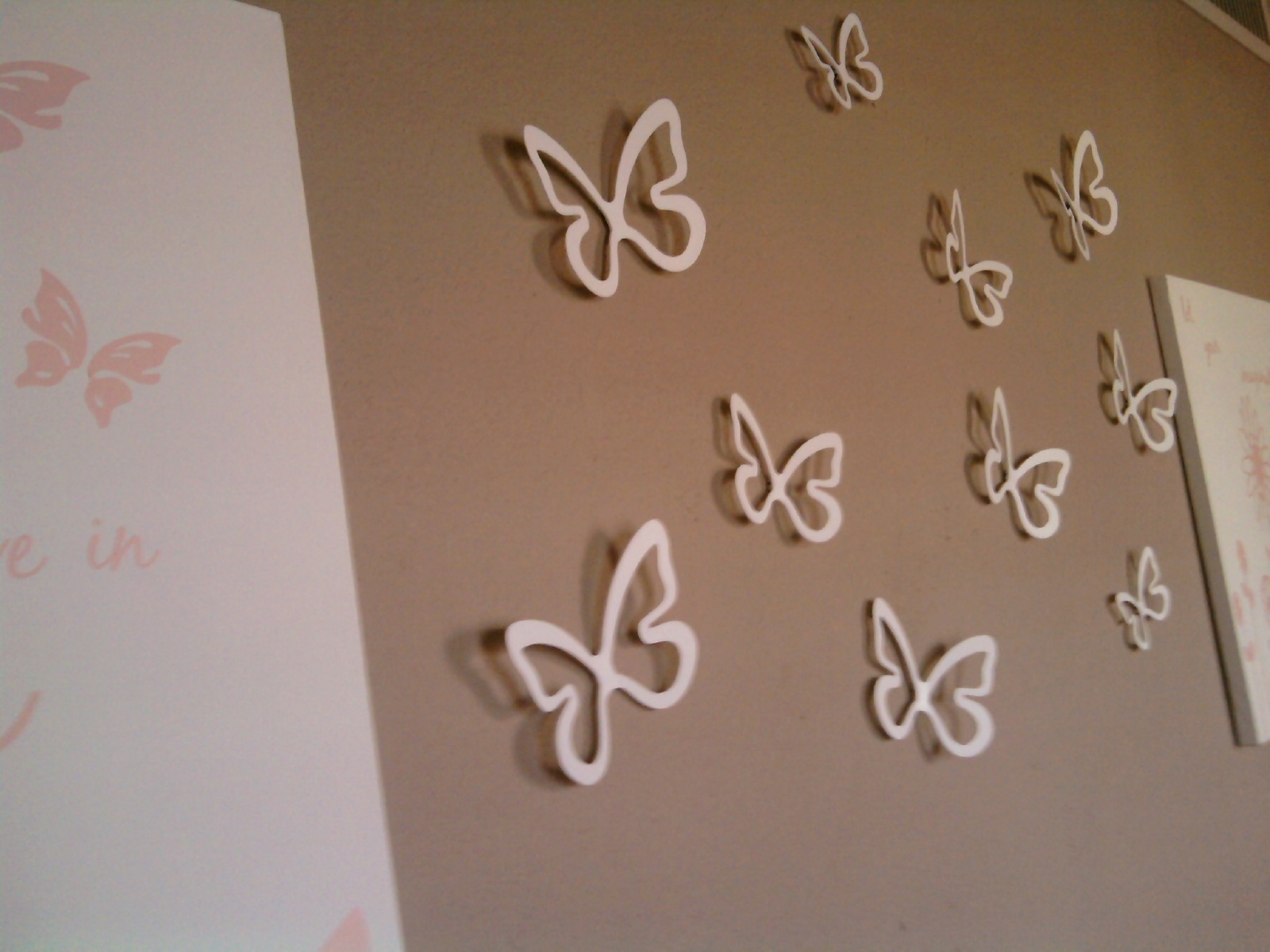 White Butterfly Wall Decor Target : Butterfly garden wall art mine for the making