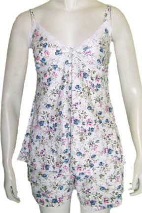 Model Baju Tidur wanita Motif Bunga