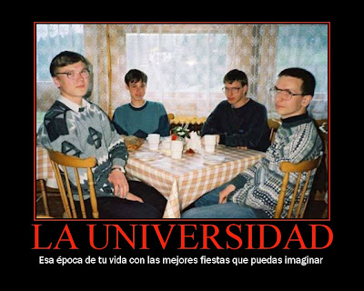 cartel desmotivador, universidad