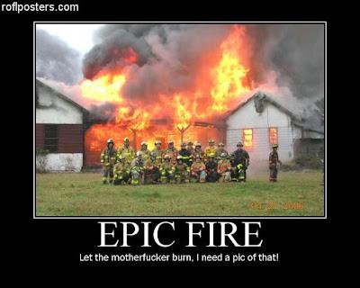 cartel, desmotivador, fuego epico, epic fire