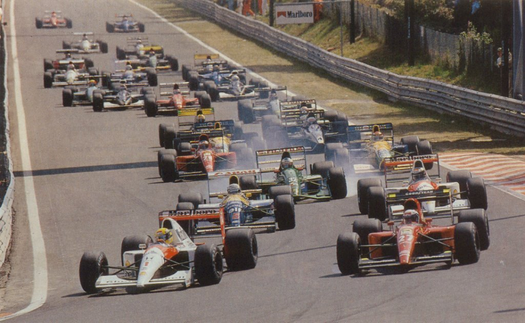 GP da Bélgica de Formula 1, Spa-Francorchamps em 1991. - By carrodecorrida.blogspot.com