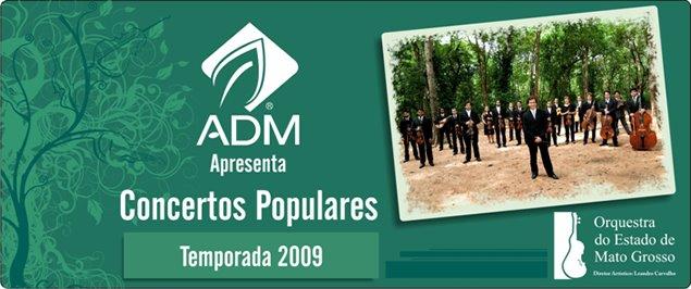 ADM apresenta Concertos Populares