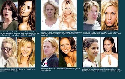celebridades com e sem maquiagem 2