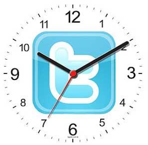 twitter clock