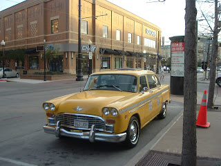 classic looking yellow taxicab