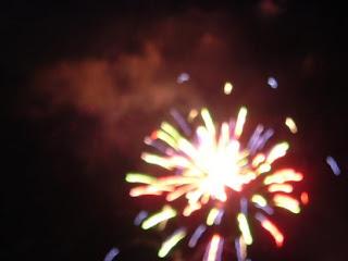 exploding firework close up