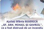 Ajutati Biserica din localitatea Crucea, judetul Suceava, care a fost distrusa de un incendiu