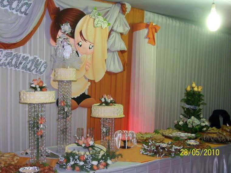 Torta de Matrimonio de cuatro pisos