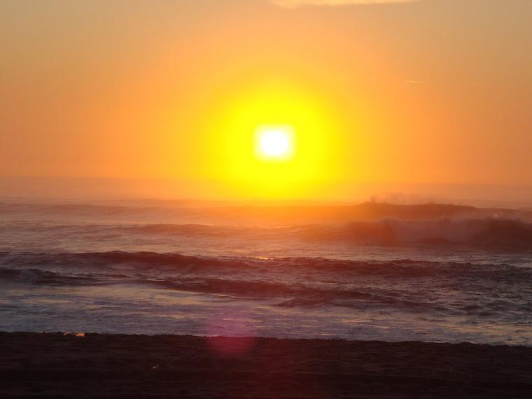 Pôr-do-sol visto da P. 5 de Outubro