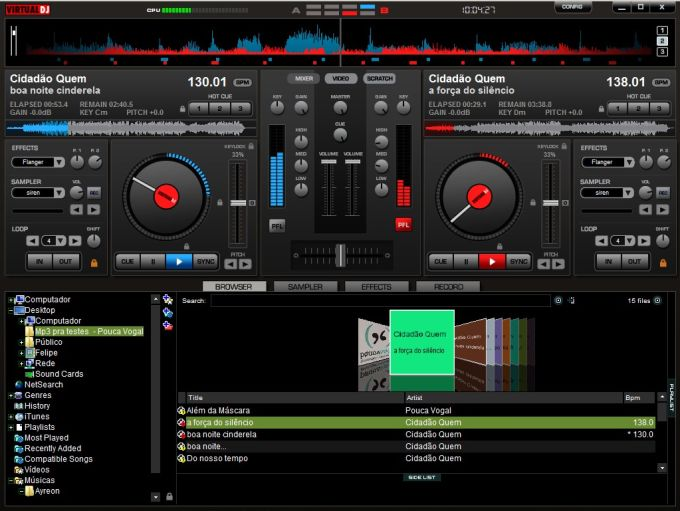 Free download virtual dj software mp3 mixing software for Virtual home software